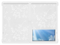 Рулонные шторы Мини - Мегаполис-4 на пластиковые окна