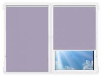 Рулонные шторы Мини - Металлик-аметист на пластиковые окна