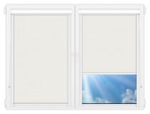 Рулонные кассетные шторы УНИ - Металлик-белый