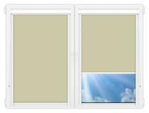 Рулонные кассетные шторы УНИ - Металлик-фисташковый на пластиковые окна