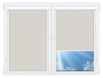 Рулонные кассетные шторы УНИ - Металлик-перл