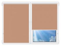 Рулонные шторы Мини - Металлик-светло-коричневый на пластиковые окна