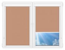 Рулонные кассетные шторы УНИ - Металлик-светло-коричневый