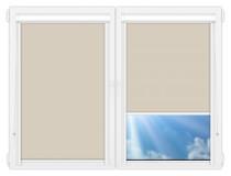 Рулонные кассетные шторы УНИ - Металлик-темно-бежевый
