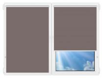 Рулонные шторы Мини - Металлик-темно-коричневый на пластиковые окна