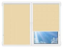 Рулонные шторы Мини - Металлик-желтый на пластиковые окна