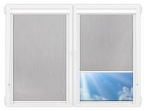 Рулонные кассетные шторы УНИ - Порто-блэкаут-серый на пластиковые окна