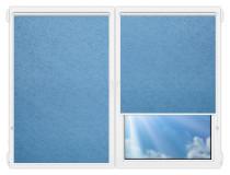 Рулонные шторы Мини - Шелк-голубой на пластиковые окна