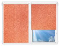 Рулонные шторы Мини - Шелк-коралл на пластиковые окна