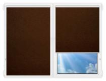 Рулонные шторы Мини - Шелк-коричневый на пластиковые окна