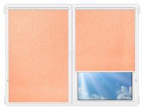 Рулонные шторы Мини - Шелк-персиковый на пластиковые окна