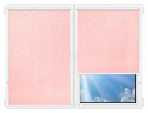 Рулонные шторы Мини - Шелк-розовый на пластиковые окна