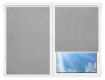 Рулонные шторы Мини - Шелк-серый на пластиковые окна