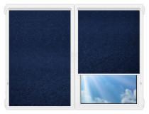 Рулонные шторы Мини - Шелк-синий на пластиковые окна