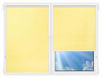 Рулонные шторы Мини - Шелк-желтый на пластиковые окна