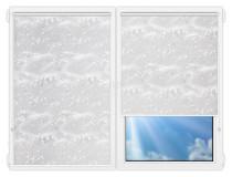 Рулонные шторы Мини - Сакура-серый на пластиковые окна