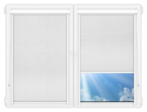 Рулонные кассетные шторы УНИ - Стикан белый