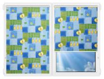 Рулонные шторы Мини - Тонус-блю на пластиковые окна