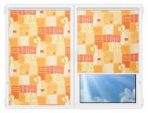 Рулонные шторы Мини - Тонус-оранж на пластиковые окна