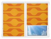 Рулонные шторы Мини - Вискан-201 на пластиковые окна