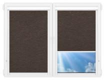 Рулонные кассетные шторы УНИ - Ямайка-коричневый
