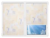 Рулонные шторы Мини - Зиг-заг-крем на пластиковые окна