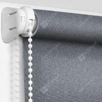 Рулонные кассетные шторы УНИ - Металлик-графит