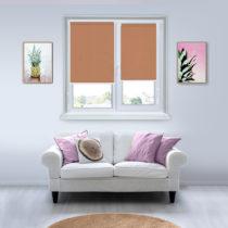 Рулонные шторы Мини - Металлик-светло-коричневый