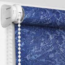 Рулонные кассетные шторы УНИ - Шелк синий