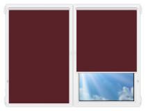 Рулонные шторы Мини - Аргентум-бордовый на пластиковые окна