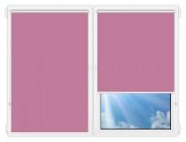 Рулонные шторы Мини - Аргентум-фиолетовый на пластиковые окна