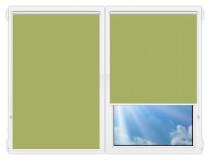 Рулонные шторы Мини - Аргентум-салатовый на пластиковые окна