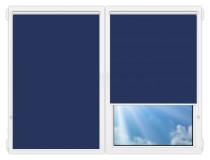 Рулонные шторы Мини - Аргентум-синий на пластиковые окна