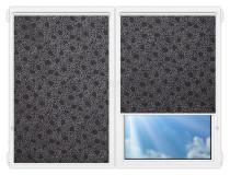 Рулонные шторы Мини - Индра-блэк на пластиковые окна