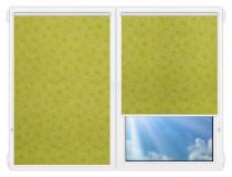 Рулонные шторы Мини - Индра-салатовый на пластиковые окна