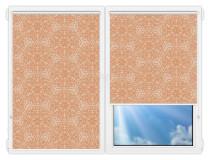 Рулонные шторы Мини - Калипсо-персиковый на пластиковые окна