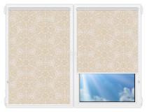 Рулонные шторы Мини - Калипсо-темно-бежевый на пластиковые окна