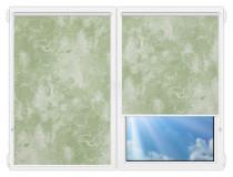 Рулонные шторы Мини - Клаудиа-блэкаут-грин на пластиковые окна