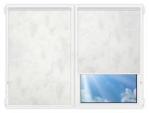 Рулонные шторы Мини - Клаудиа-блэкаут-вайт на пластиковые окна