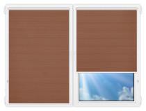 Рулонные шторы Мини - Маракеш-блэкаут-дарк-бейж на пластиковые окна