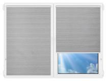 Рулонные шторы Мини - Маракеш-блэкаут-грей на пластиковые окна