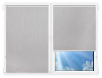 Рулонные шторы Мини - Порто-блэкаут-серый на пластиковые окна