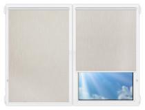 Рулонные шторы Мини - Порто-блэкаут-светло-бежевый на пластиковые окна