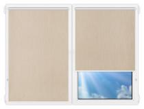 Рулонные шторы Мини - Порто-блэкаут-темно-бежевый на пластиковые окна