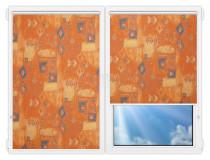 Рулонные шторы Мини - Салмиак-терра на пластиковые окна