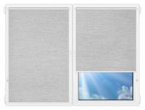 Рулонные шторы Мини - Валенсия-белый на пластиковые окна