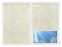 Рулонные шторы Мини - Версаль-блэкаут-перл на пластиковые окна
