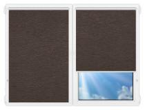 Рулонные шторы Мини - Ямайка-коричневый на пластиковые окна