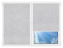 Рулонные шторы Мини - Ямайка-серый на пластиковые окна