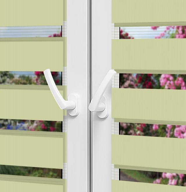 Рулонные шторы День-Ночь — Латина 0003 на пластиковые окна